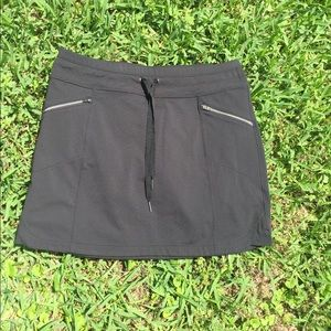 Athleta Black Skort Skirt